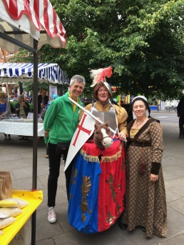 Having fun whilst volunteering at Moseley Farmers Market