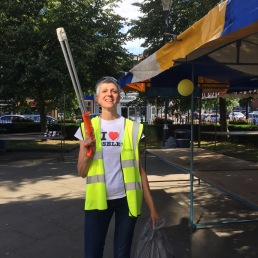 Keeping the streets clean during Moseley Festival