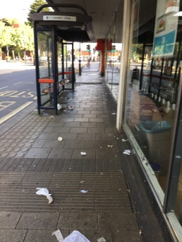 Some of the litter tackled by Moseley Litterbusters
