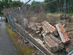 Wall at rear of Ashfield Cricket club...