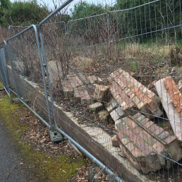 Wall at rear of Ashfield Cricket club...