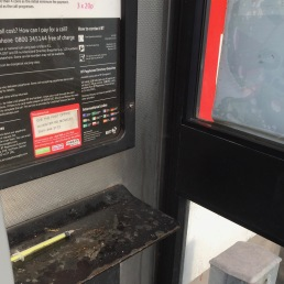 Hypodermic in phone box -removed