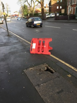 Danger to pavement Alcester Road -reported