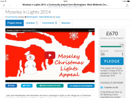 Crowdfunder Moseley in Lights 2014