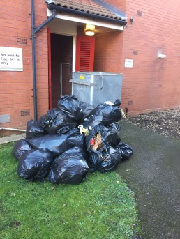 Uncollected bags Park Hill