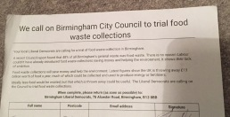 Campaigning for Food waste collections