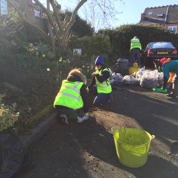 Helping Moseley in Bloom car park clearing