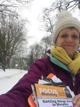 Delivering in the snow