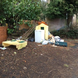 Fly tipping Sarehole Croft...