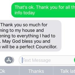 Nice feedback!